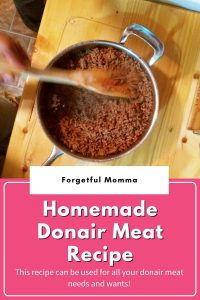 Homemade Donair Meat Recipe