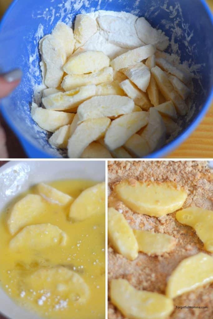 Air Fryer Apple Fries prep