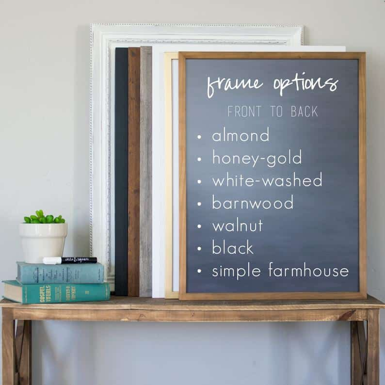 Personalized Chalkboard Homeschool Schedule