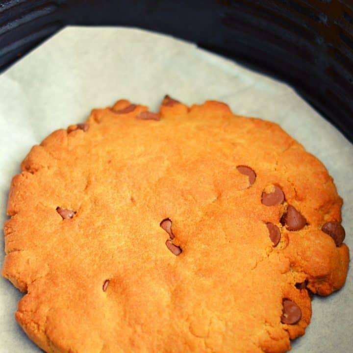 Single Serve Chocolate Chip Cookie - cookie in air fryer