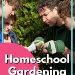 Homeschool Gardening Curriculum - 4 people looking at plants and papers