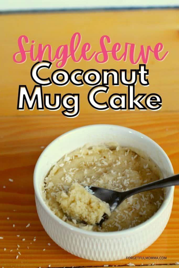 Single Serve Coconut Mug Cake