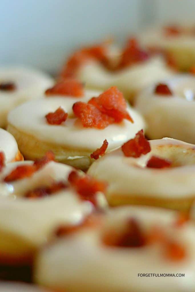 maple bacon mini donuts