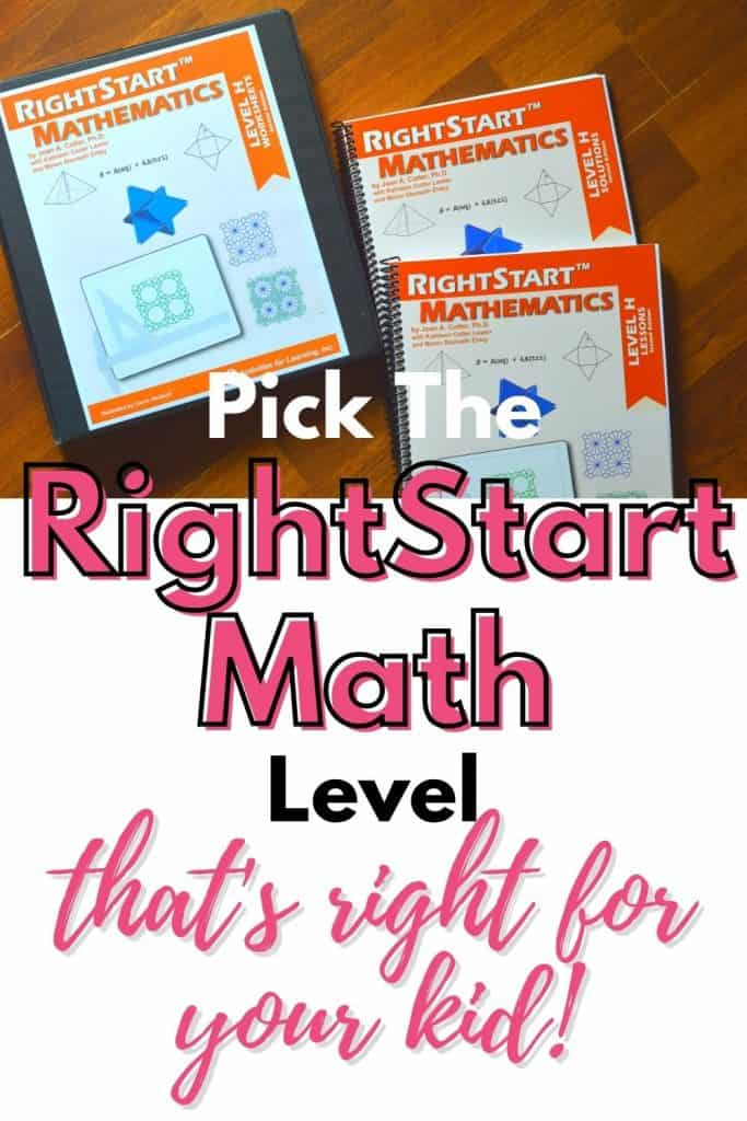 Choosing the Right RightStart Math Level