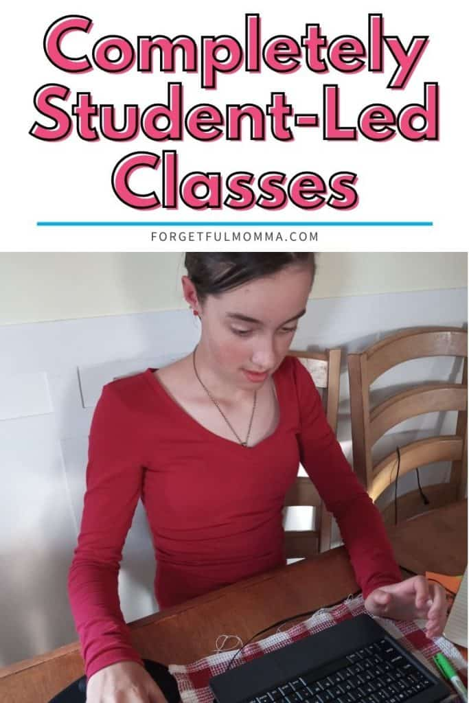 Completely Student-Led Classes - teen at computer doing school work